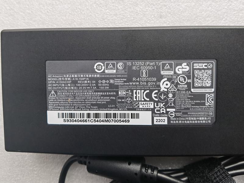 ADP-150CH_B Laptop Adapter